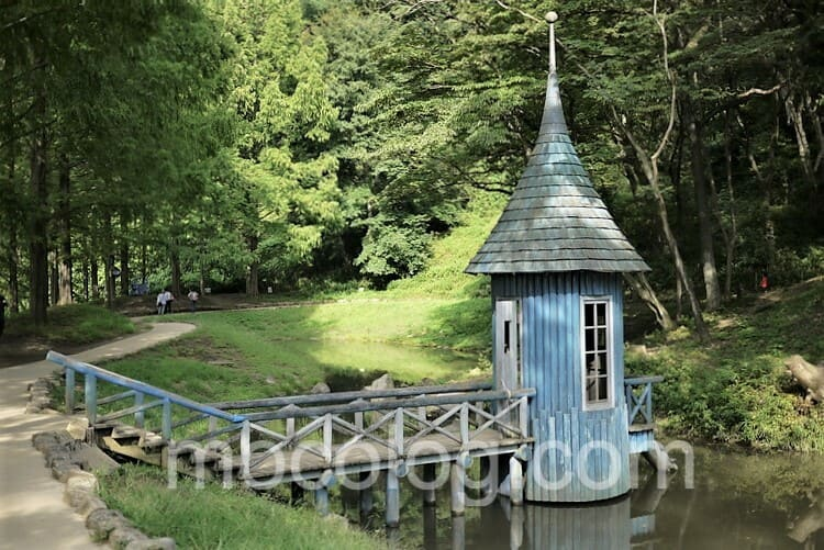 わんぱく池の小屋