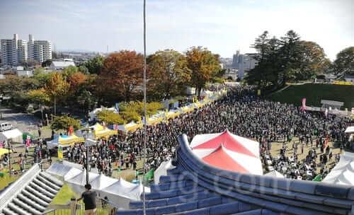 櫓から見た宇都宮餃子祭り会場
