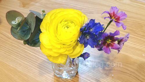 実際に届いたお花