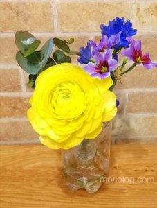飾ったお花