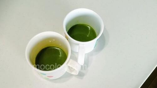 水で作ったグリーンミルク
